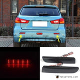 2008-14 LED Bumper Reflector Smoked Lens Tail Brake Light For Mitsubishi Lancer EVO Evolution X