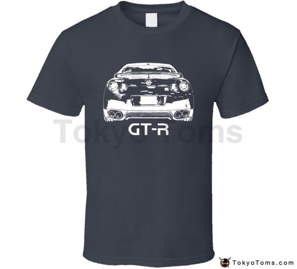 2018 Fashion Print Tee Men Short Sleeve Clothing Swag Hot Sale Gt-R Rear View With Model Dark