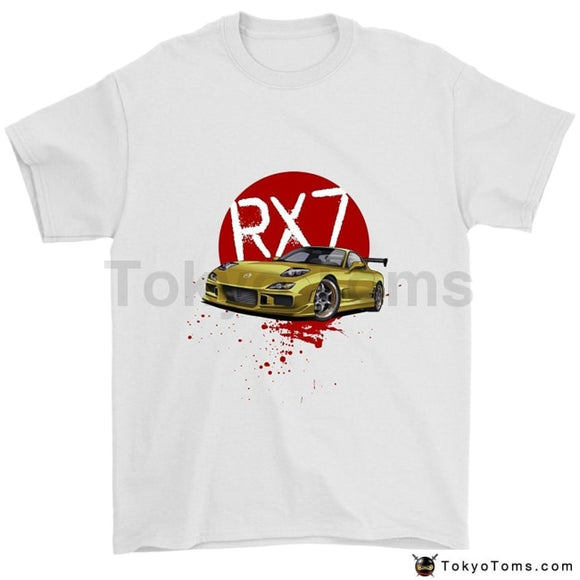 2018 Summer Brand Adults Casual Hot Japanese Car Fans Rx-7 Jdm Rotary Tuner T-Shirt Tee Shirt