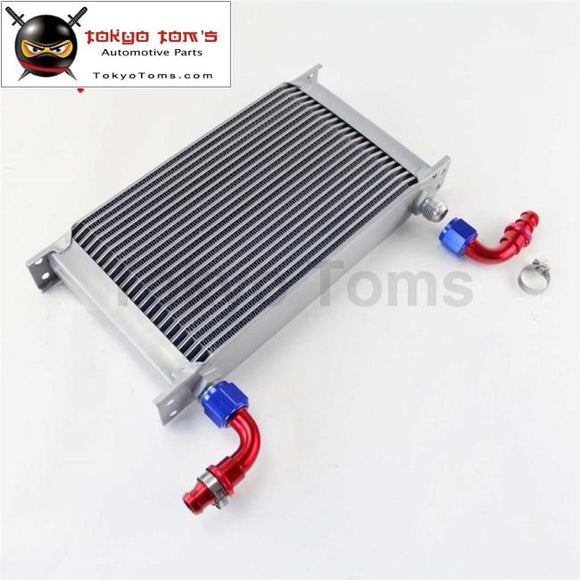 22 Row An10 Universal Aluminum Engine Transmission 248Mm Oil Cooler British Type W/ Fittings Kit