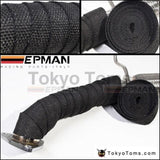 25 Black Turbo Manifold Heat Exhaust Thermal Wrap & Stainless Ties For Honda Toyota Healey Vw Golf