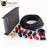 25 Row 248Mm An10 Universal Engine Oil Cooler British Type+M20Xp1.5 / 3/4 X 16 Filter Relocation+3M