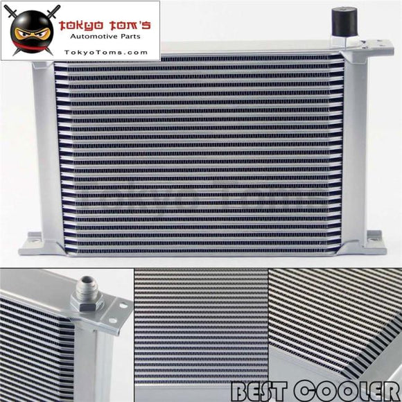 25 Row 8An Universal Engine Transmission Oil Cooler 3/4Unf16 An-8 Silver