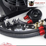 25 Row An8 Engine Oil Cooler / Filter Adapter Hose Kit + 7 Electric Fan