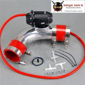 250Mm 90 Degree Flange Pipe +Sqv Blow Off Valve Bov Iv 4 Black +Red Silicone Hose Kit
