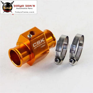28Mm 1.11 Water Temp Temperature Gauge Radiator Sensor Adaptor Attachment Aluminum Red / Blue Siver