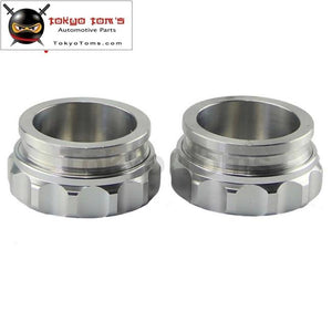 2Pcs 2 50.8Mm Aluminium Weld On Filler Neck And Cap Oil Fuel Water Tank Black /silver