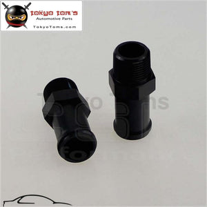 2Pcs Aluminum 3/4 Npt Male Straight To 1 Hose Barb Nipple An16 Fitting Black
