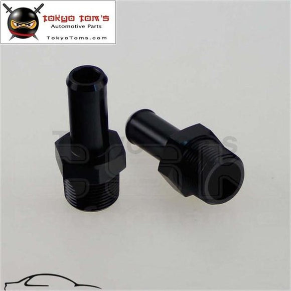 2Pcs Aluminum 3/4 Npt Male Straight To Hose Barb Nipple An12 Fitting Black