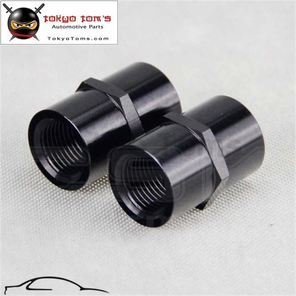 2Pcs Aluminum Female 3/8 Npt Pipe Piping Coupler Anodized Fitting Adapter