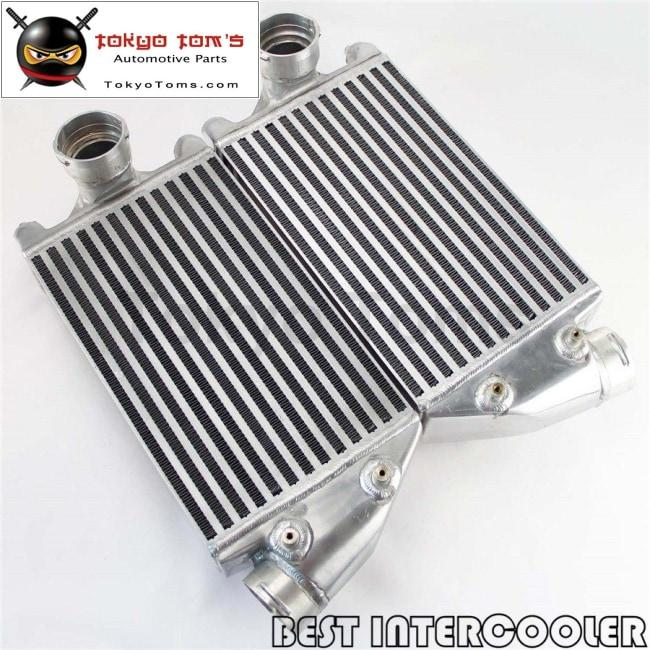 2Pcs Aluminum Twin Intercooler Kit For 01-09 Porsche 996 997 Tt Turbo / GT2