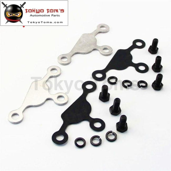 2Pcs Egr Block Off Delete Plate Gasket Blocker For Silvia S13 S14 240Sx Ka24De Dohc Silver / Black