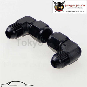 2Pcs Male -8 An To Female 90 Degree Swivel Coupler Union Adapter Fitting