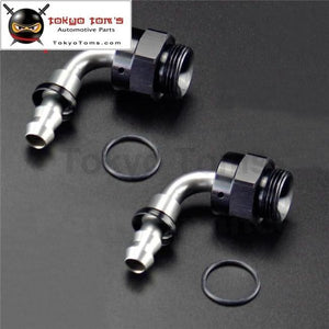 2Pcs Male 90 Degree M22*1.5 To An6 12Mm Push On Hose End Union Adapter Fitting