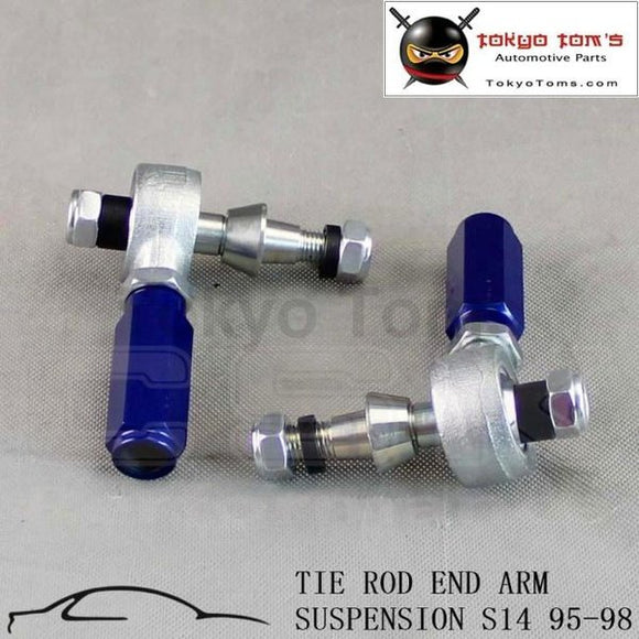 2Pcs Turbo Outer Tie Rod End Arm Suspension Fit For 95-98 240Sx S14 Sr20 Silvia