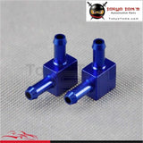 2Pcs Universal Aluminum 2 Way Tubing Tee Vacuum Connector Water Air Pipe Joiner Black / Blue/ Silver