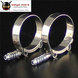 2Pcs X Spring Stainless Steel T-Bolt Silicone Hose Clamps With All Sizes Aluminum Piping