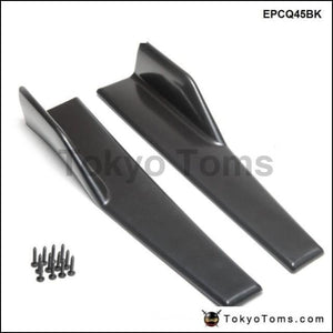 2Pcs/set Car Side Skirt Rocker Splitters Winglet Wings Canard Diffuser Spoiler Kits Epcq45Bk