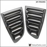 2Pcs/set Sand Sprayed Or Specular Carbon Fiber Side Window Quarter Scoop Louver Cover For Ford