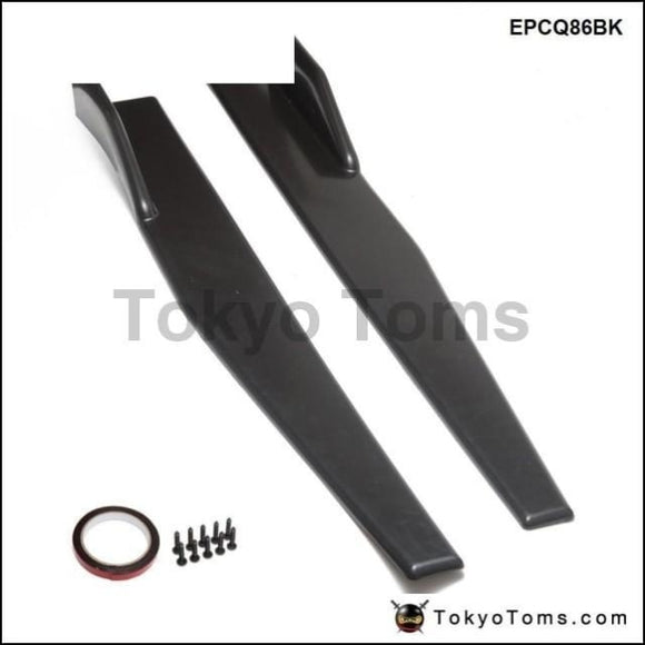 2Pcs/set Universal Black Side Skirt Rocker Splitters Winglet Wings Canard Diffuser Epcq86Bk Exterior