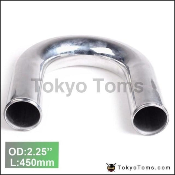 2Pcs/unit 57Mm 2.25 180 Degree Aluminum Turbo Intercooler Pipe Tube Piping L:450 Mm For Audi