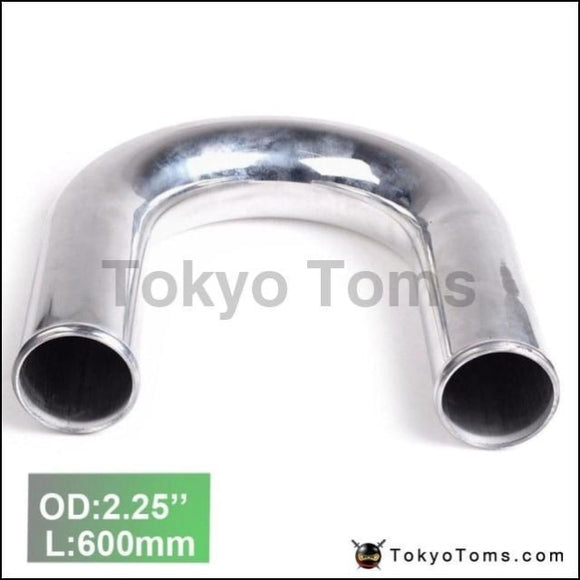 2Pcs/unit 57Mm 2.25 180 Degree Aluminum Turbo Intercooler Pipe Tube Piping L:600Mm For Audi A4 Vw