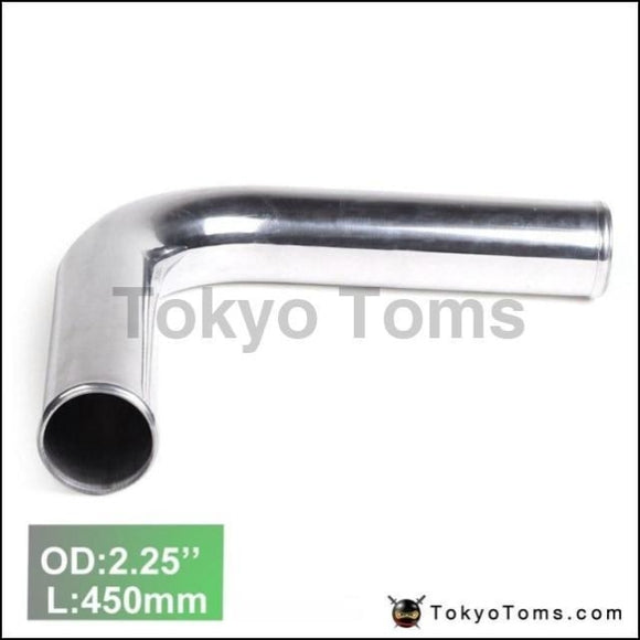 2Pcs/unit 57Mm 2.25 90 Degree Aluminum Turbo Intercooler Pipe Tube Piping L:450Mm For Vw Golf Gti