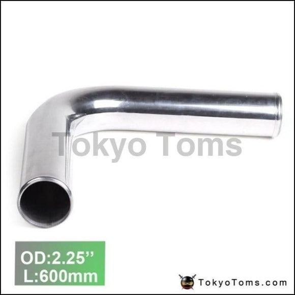 2Pcs/unit 57Mm 2.25 90 Degree Aluminum Turbo Intercooler Pipe Tube Piping L:600Mm For Vw Golf Gti