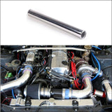 2Pcs/unit 63Mm 2.5 Straight Aluminum Turbo Intercooler Pipe Tube Piping Length 450 Mm For Bmw E39