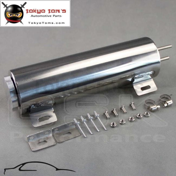 3 X 10 X10 Polished Stainless Steel 34 Oz Radiator Over Flow Tank Overflow Sbc Bbc
