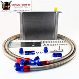 30 Row 248Mm An10 British Oil Cooler Kit W/ Brackets Fits For Bmw E36 Euro E82 E9X 135/335 E46 M3