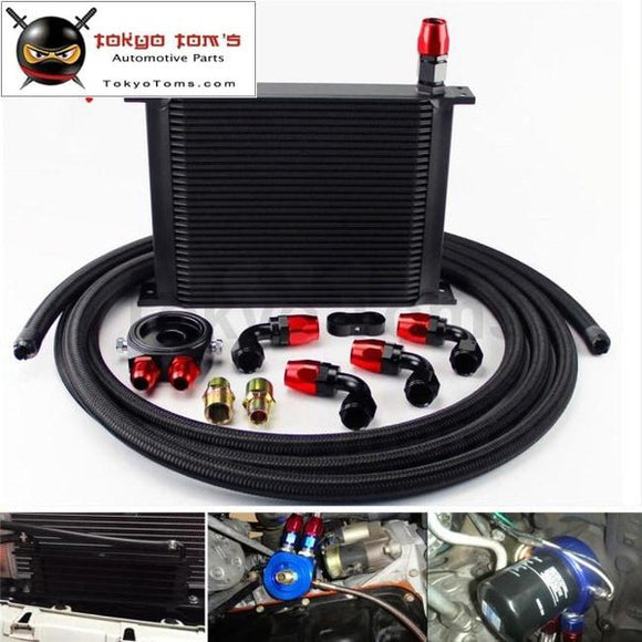 30 Row 248Mm An10 Universal Engine Oil Cooler British Type+M20Xp1.5 / 3/4 X 16 Filter Relocation+3M