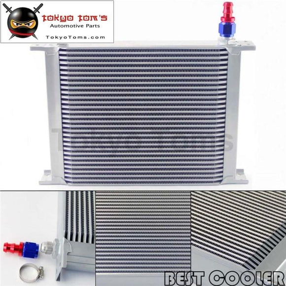 30 Row 8An Universal Engine Oil Cooler 3/4Unf16 + 2Pcs An8 Straight Fittings