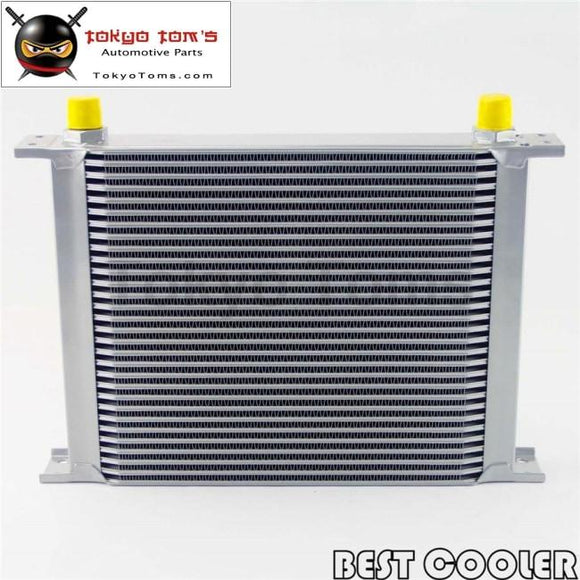30 Row 8An Universal Engine Transmission Oil Cooler 3/4Unf16 An-8 Silver