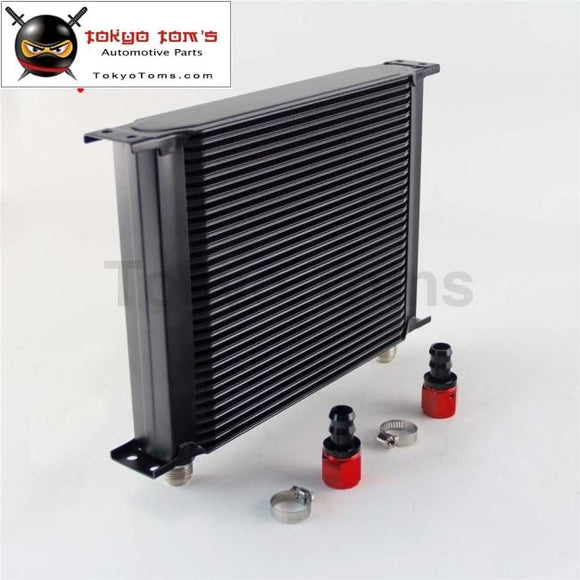 30 Row An10 Universal Aluminum Engine Transmission 248Mm Oil Cooler British Type W/ Fittings Kit