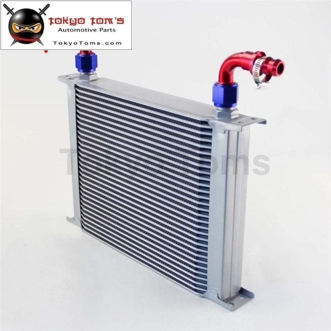 30 Row AN-10 Universal Aluminum Engine Transmission Oil Cooler Silver