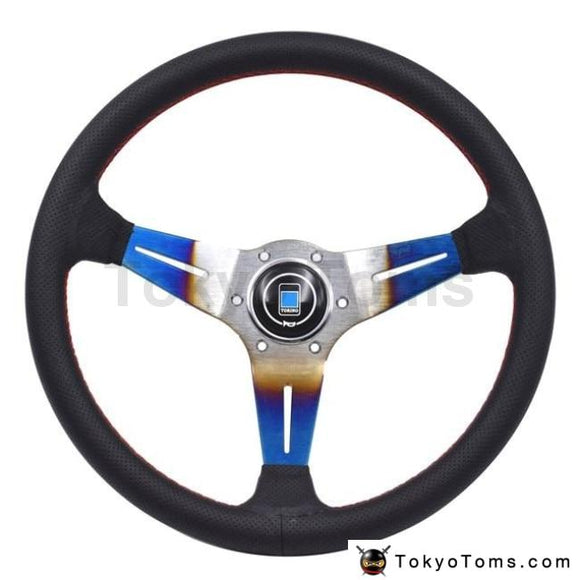 350Mm/14Inch Nd Racing Car Real Leather Drifting Steering Wheel