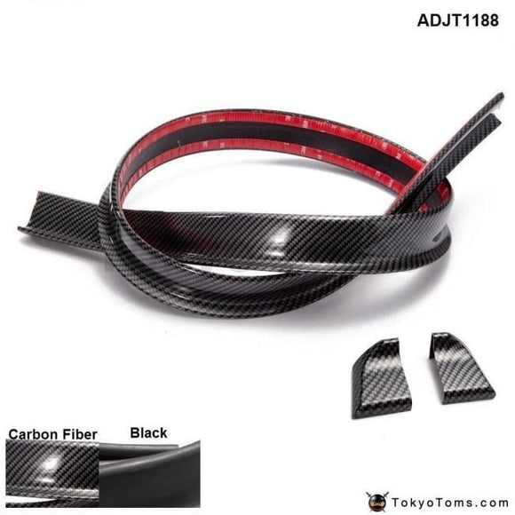 4.9Ft (150Cm/1.5M) 45Mm Carbon Fiber Auto Body Trunk Rear Boot Lip Spoiler Adjt1188 Exterior Parts