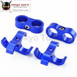 4 Pcs An -10 An10 19Mm Braided Hose Separator Clamp Fitting Adapter Bracket Blue
