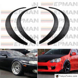 4 Pcs/set Car Fender Flares Arch Wheel Eyebrow Protector/mudguards Sticker Universal Exterior Parts
