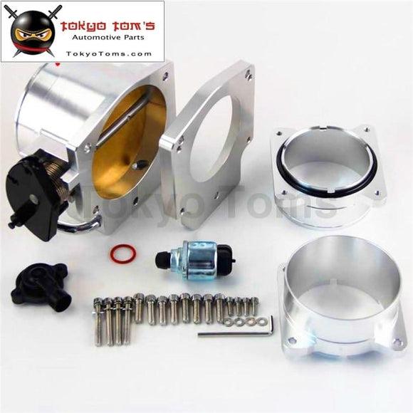 4 Throttle Body/ Tps+Manifold Plate+ Mass Air Flow Maf Ends For Gm Chevy Ls1 Sl