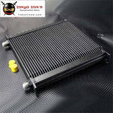 40 Row An10 Aluminum Engine & Transmission Oil Cooler Black