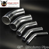 45 Degree 51Mm 2.0 Inch Aluminum Intercooler Intake Pipe Piping Tube Hose