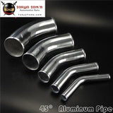 45 Degree 57Mm 2.25 Inch Aluminum Intercooler Intake Pipe Piping Tube Hose