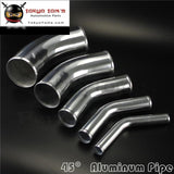 45 Degree 70Mm 2.75 Inch Aluminum Intercooler Intake Pipe Piping Tube Hose