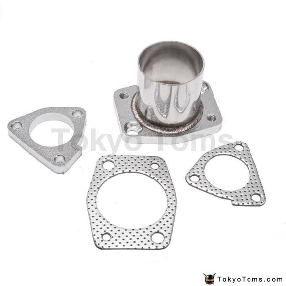 4Pc Turbo Inlet + Outlet Flange Adapter Gasket - Garratt T25 T28 Gt25 Gt28 Parts