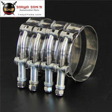 4X 2.75 T-Bolt Clamps Stainless Steel For Turbo Intake Silicone Hose Coulper