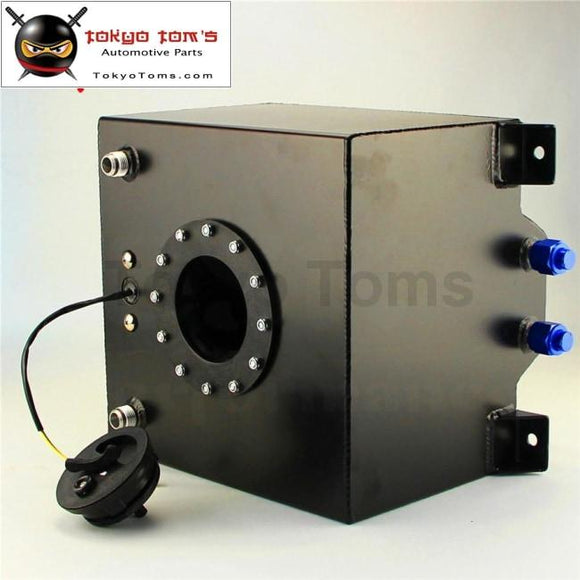 5 Gallon 18.8L Black Coated Aluminum Racing Drift Fuel Cell Tank + Level Sender