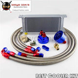 50Mm 16 Row An-8/an8 Engine Transmission Oil Cooler + Filter Relocation Kit