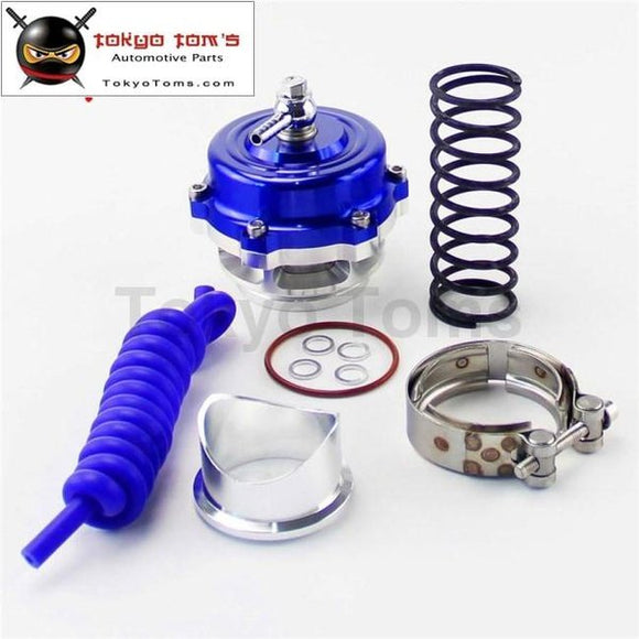 50Mm 35Psi Boost V Band Turbo/turbocharger Blow Off Valve Bov Spring+Flange Kit Black/ Blue